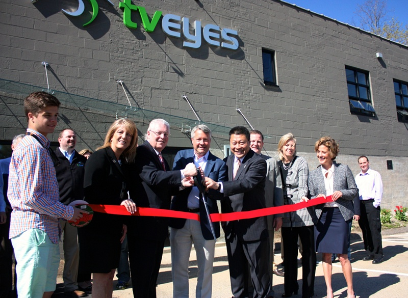 TVEyes Ribbon Cutting New HQ Headquarters Fairfield CT